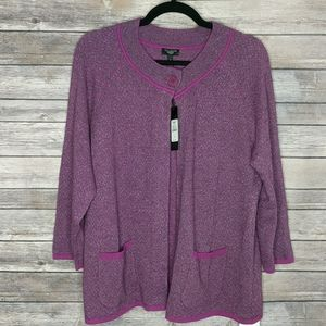 TALBOTS Woman Wool Blend Cardigan Size X NWT